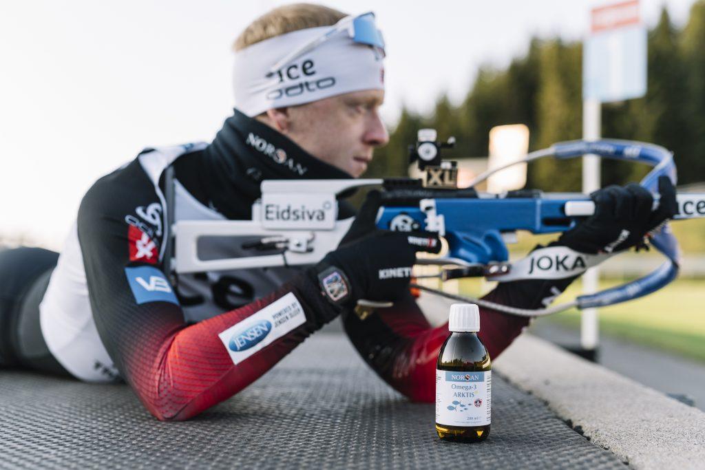 Champion du monde de biathlon et client Norsan