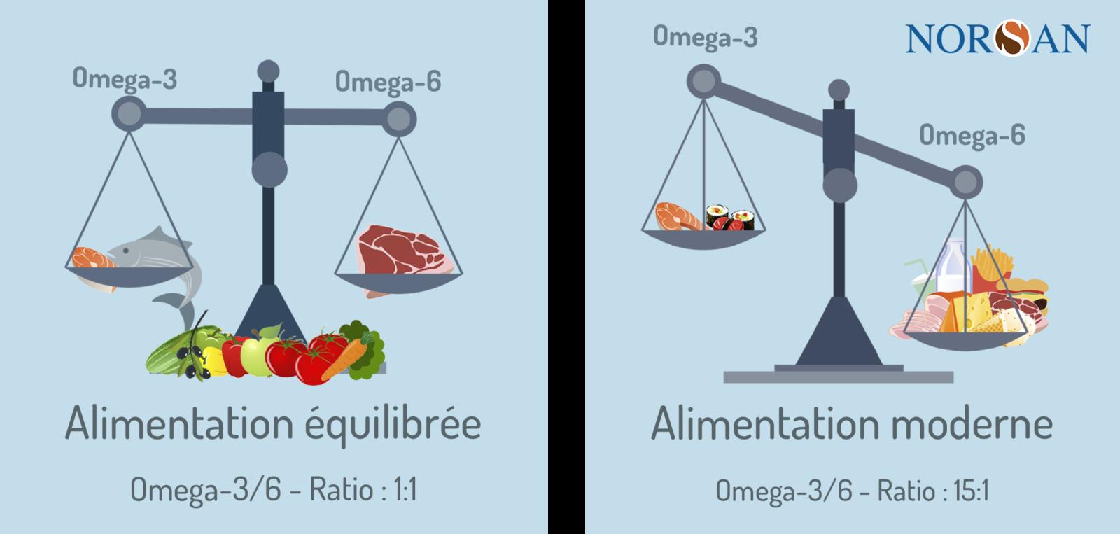 Rapport omega 6/3 Bienfaits des oméga-3